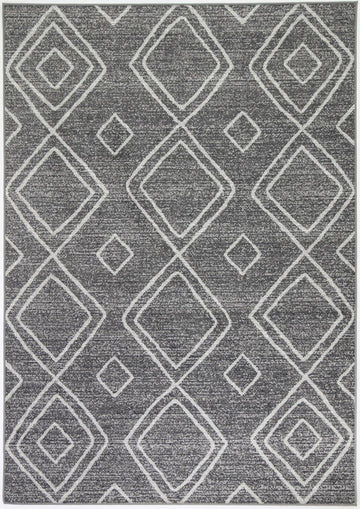 Marrakesh Indoor/Outdoor Charcoal Rug