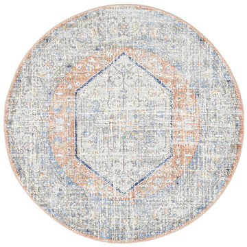 Lorissa Peach Transitional Round Rug - Simple Style Co