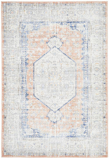 Lorissa Peach Distressed Transitional Rug - Simple Style Co