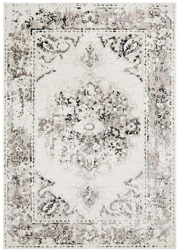 Alexa Transitional Rug White Grey | Free Delivery | Simple Style Co