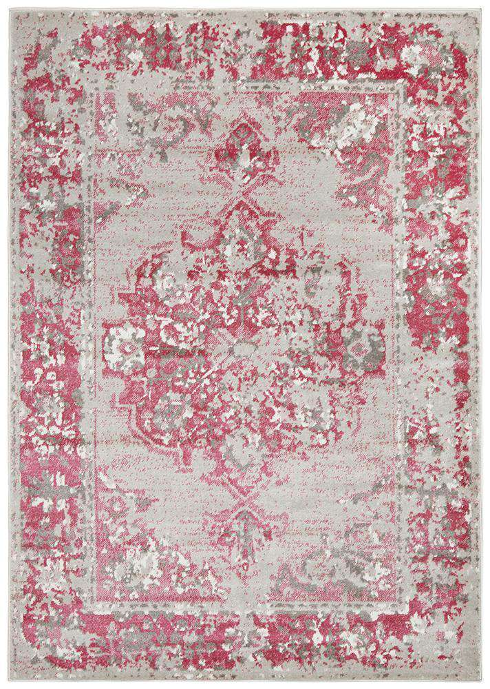 Simple Style Co: Alexa Transitional Rug Grey Fuchsia: | Buy Rugs Australia