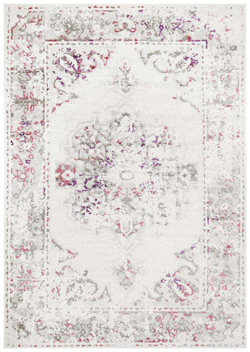Alexa White Fuchsia Transitional Rug - Simple Style Co