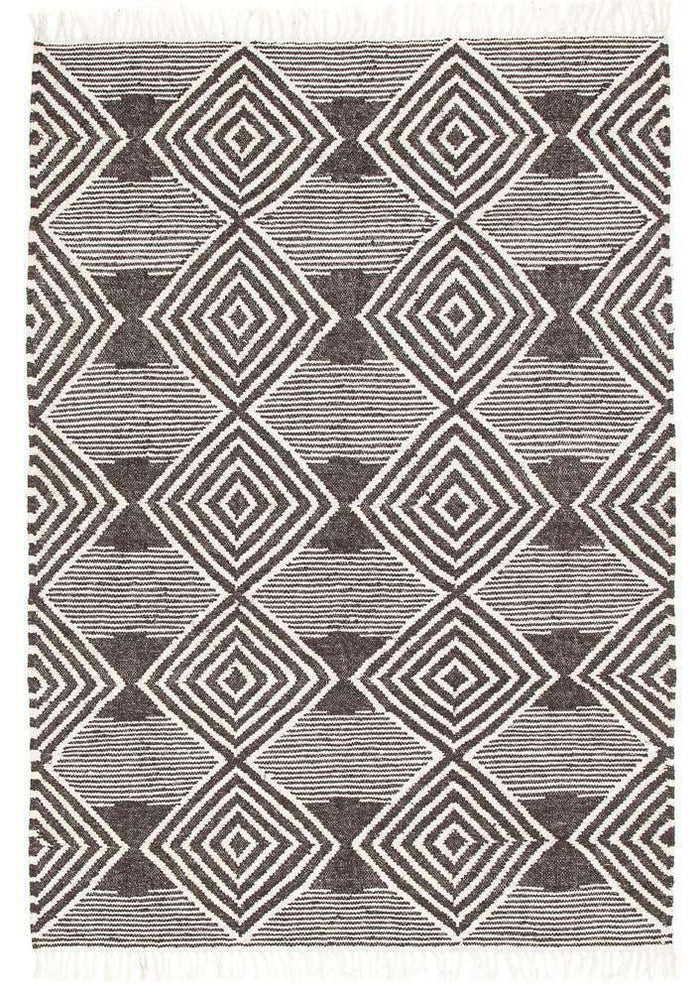 Alexandria Diamond Rug Charcoal | Free Delivery | Simple Style Co