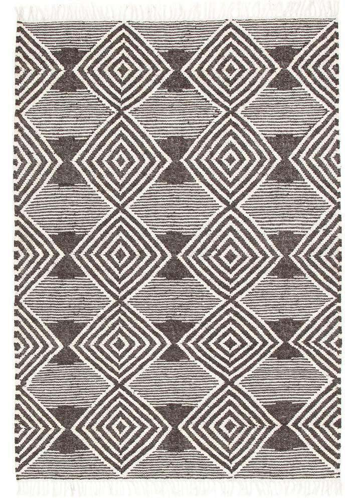 Alexandria Charcoal Grey Diamond Rug - Simple Style Co