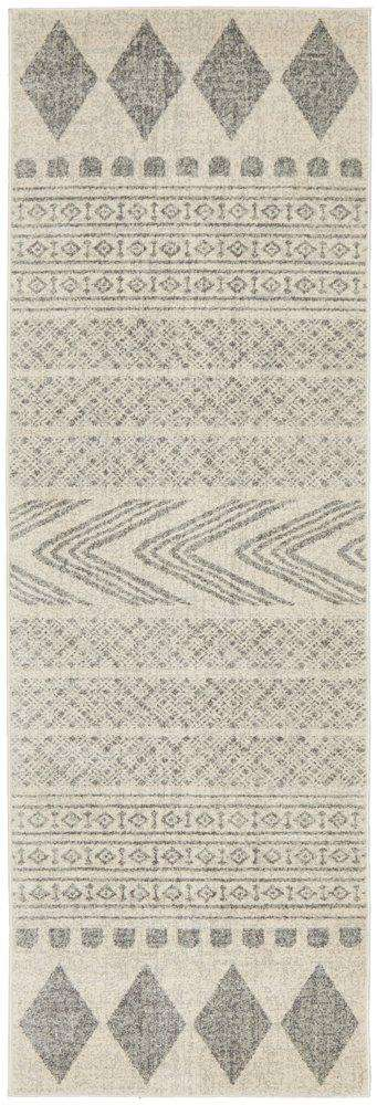 Caudelie Grey & White Runner Rug - Simple Style Co
