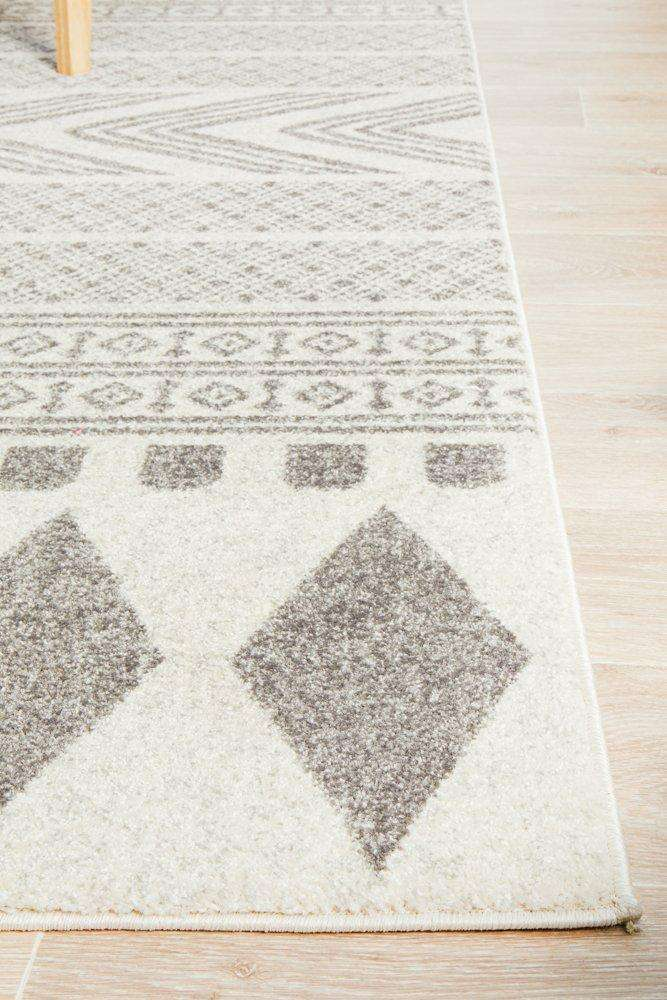 Adani Modern Tribal Rug Grey | Tribal Rugs | Modern Rugs
