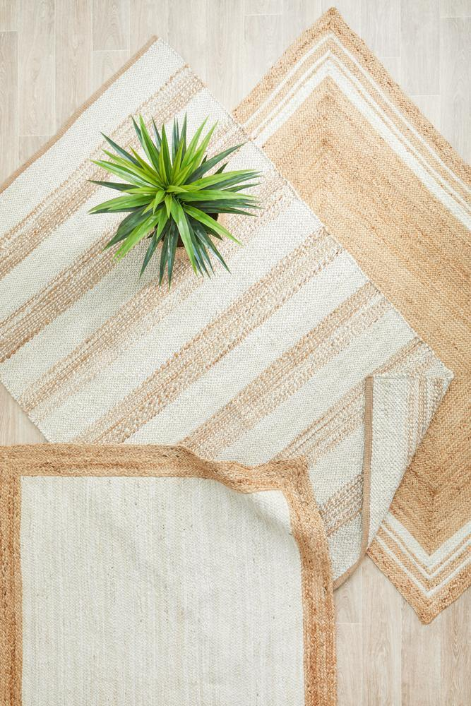 Noosa Geometric Natural Jute Rug - Simple Style Co