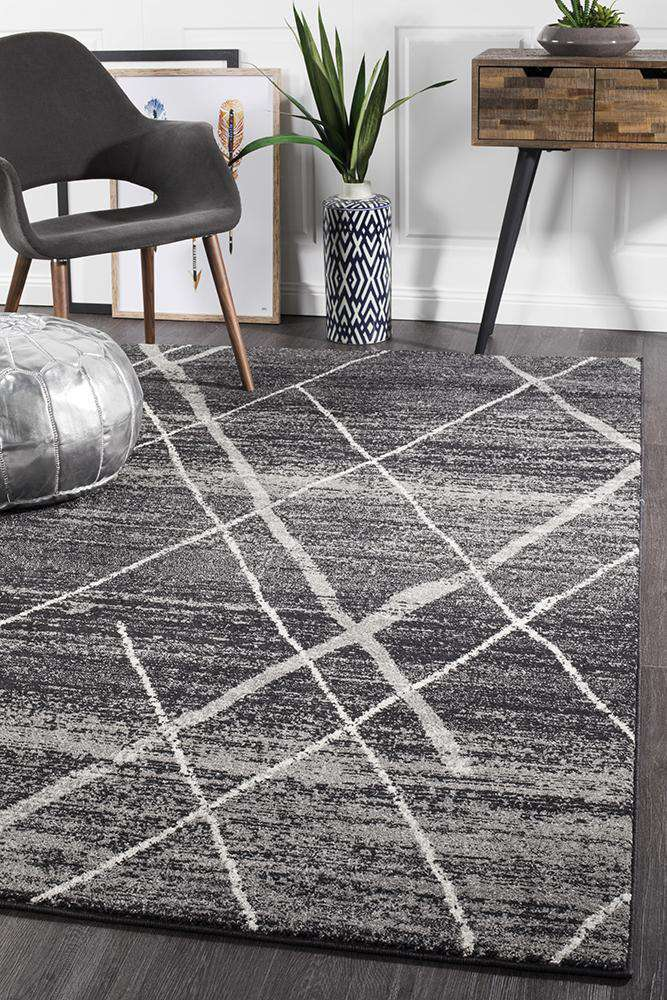 Noah Charcoal Contemporary Rug - Simple Style Co