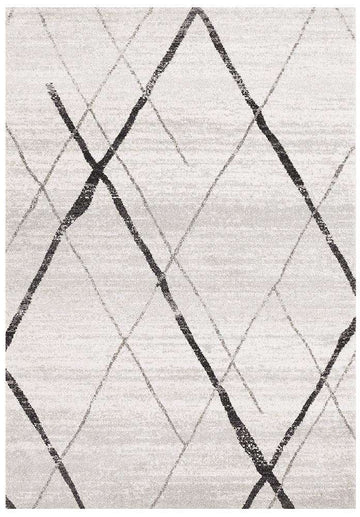 Noah White Grey Contemporary Rug - Simple Style Co