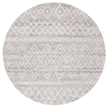 Nadia Grey Rustic Tribal Round Rug - Simple Style Co