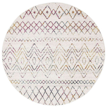 Nadia Multicoloured Tribal Round Rug - Simple Style Co
