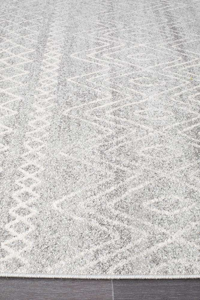 Selma Silver Tribal Rug - Simple Style Co