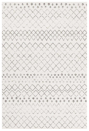 Selma White Grey Tribal Transitional Rug - Simple Style Co