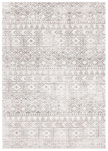 Ismail White Grey Tribal Diamond Rug - Simple Style Co