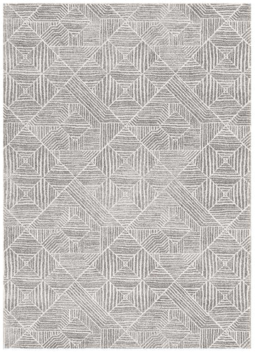 Kenza Grey Tribal Diamond Rug - Simple Style Co