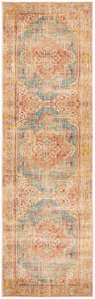 Nawa Blue Traditional Runner Rug - Simple Style Co