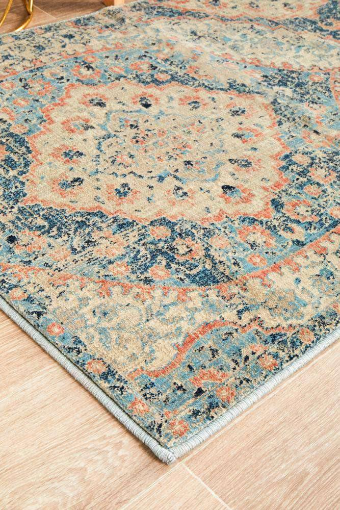 Dalila Blue Traditional Runner Rug - Simple Style Co