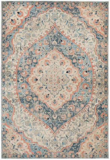 Dalila Blue Traditional Rug - Simple Style Co