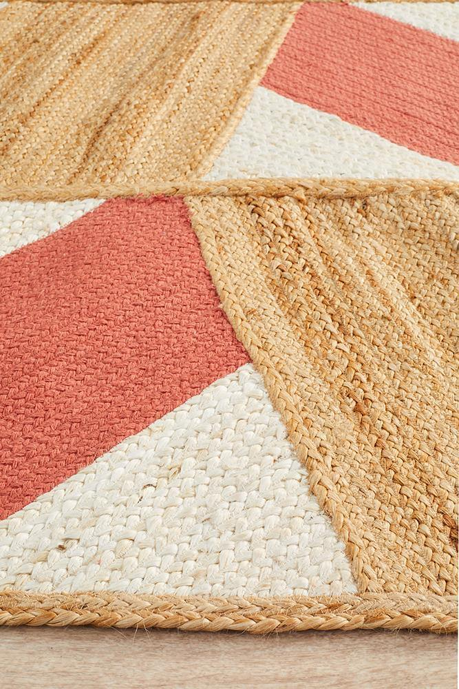 Calypso Coral & Natural Jute Rug - Simple Style Co