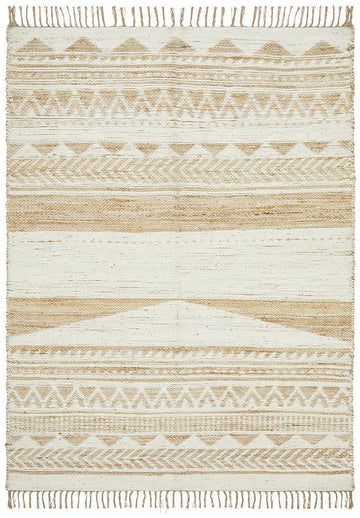 Kailani White & Natural Jute Blend Rug - Simple Style Co