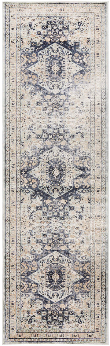Delphine Blue Traditional Runner Rug - Simple Style Co