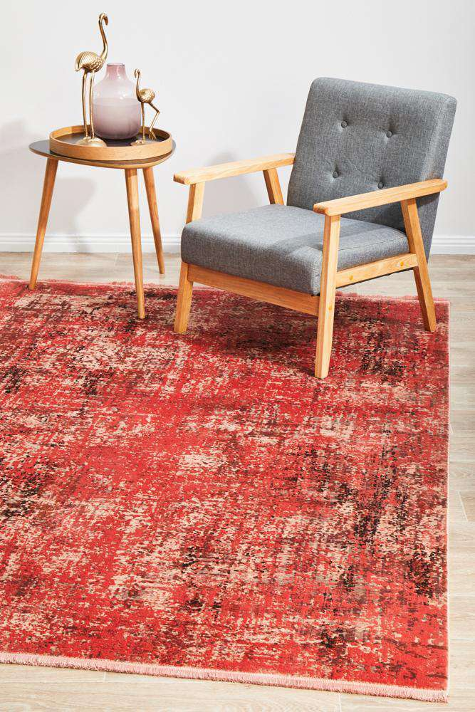 Emel Coral Bamboo Silk Rug - Simple Style Co