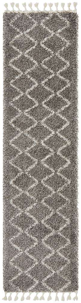 Simple Style Co: Kenza Runner Grey | Shop Rugs Online | Free Delivery