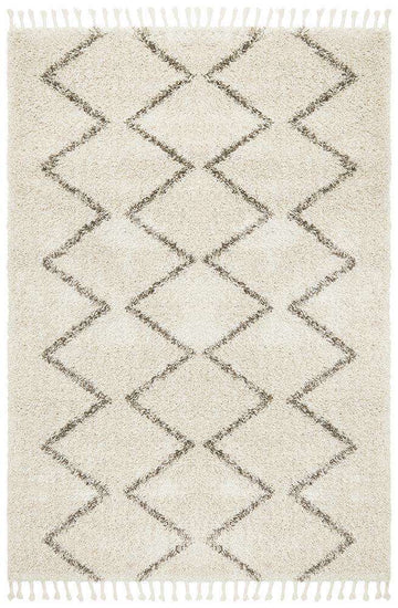 Fleur Fringed Rug Natural | Free Delivery Australia Wide | Simple Style Co