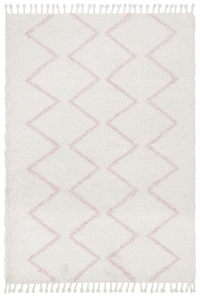 Kenza Pink Fringed Rug - Simple Style Co