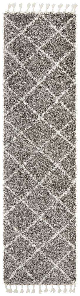 Kiyan Grey Fringed Hallway Runner - Simple Style Co