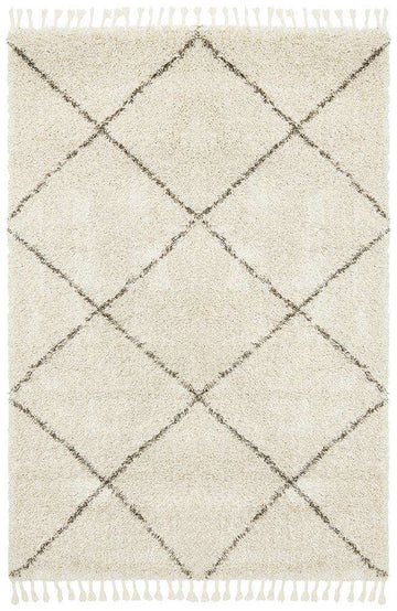Kiyan Natural Fringed Rug Natural - Simple Style Co