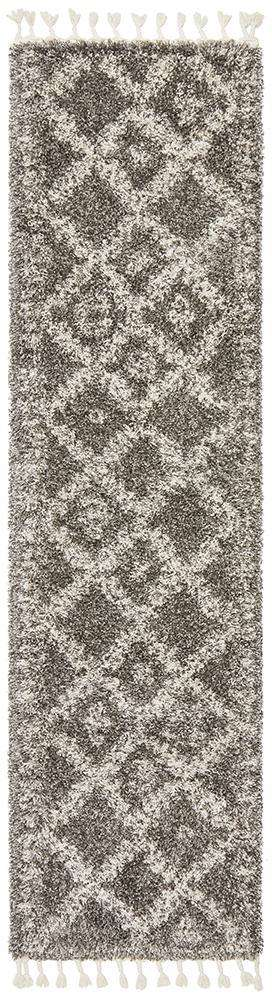 Saffron 33 Grey Runner Rug - Simple Style Co