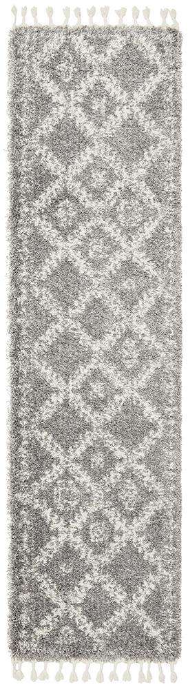 Saffron 33 Silver Runner Rug - Simple Style Co