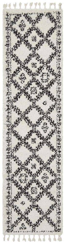 Saffron 33 White Runner Rug - Simple Style Co
