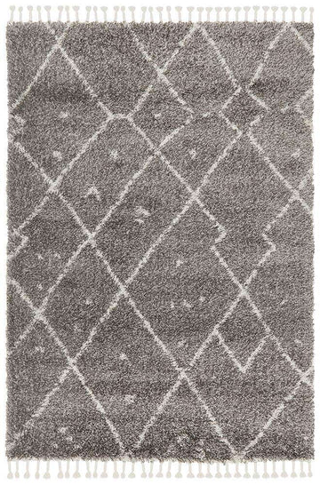 Nahla Textured Tribal Rug - Grey - Simple Style Co