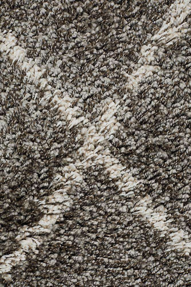 Nahla Textured Tribal Rug - Grey