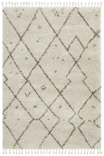 Nahla Natural Fringed Tribal Rug - Simple Style Co