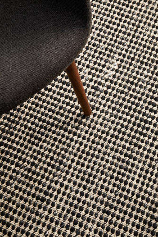 Skandi Black Felted Wool Rug - Simple Style Co