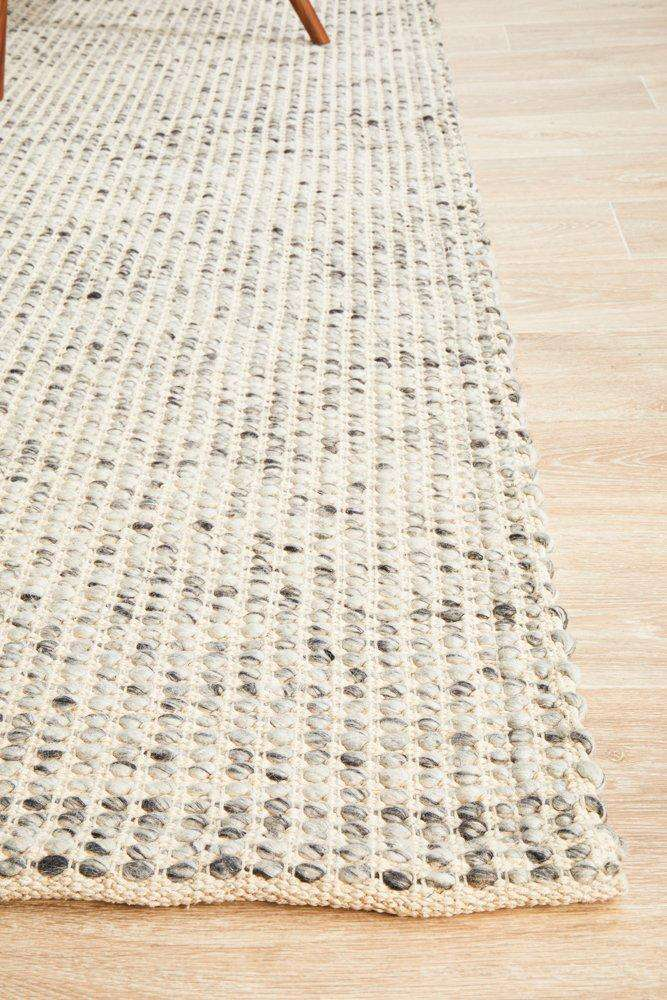 Skandi Grey Felted Wool Rug - Simple Style Co