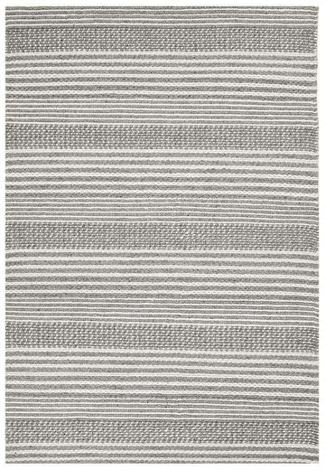 Celena Grey Stripe Braided Wool Rug - Simple Style Co