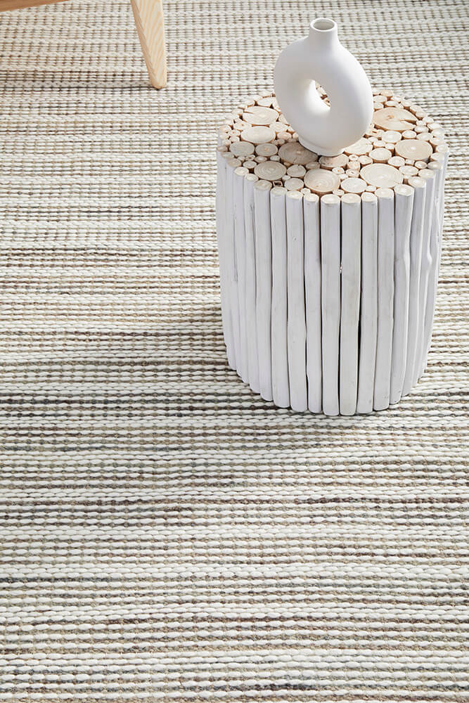 Bergen Cream & Grey Wool Rug - Simple Style Co