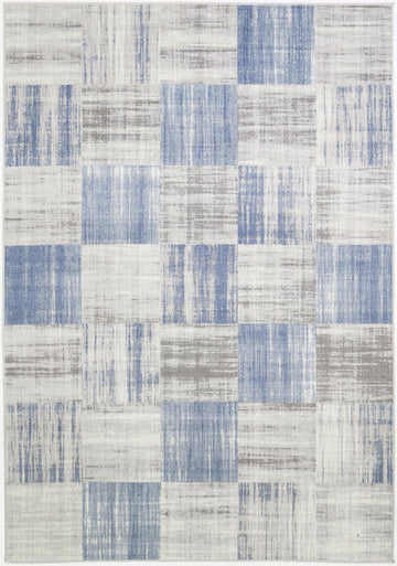 Squares Indoor/Outdoor Blue Rug