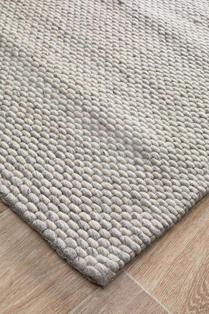 Arles Wool & Viscose Rug - Grey