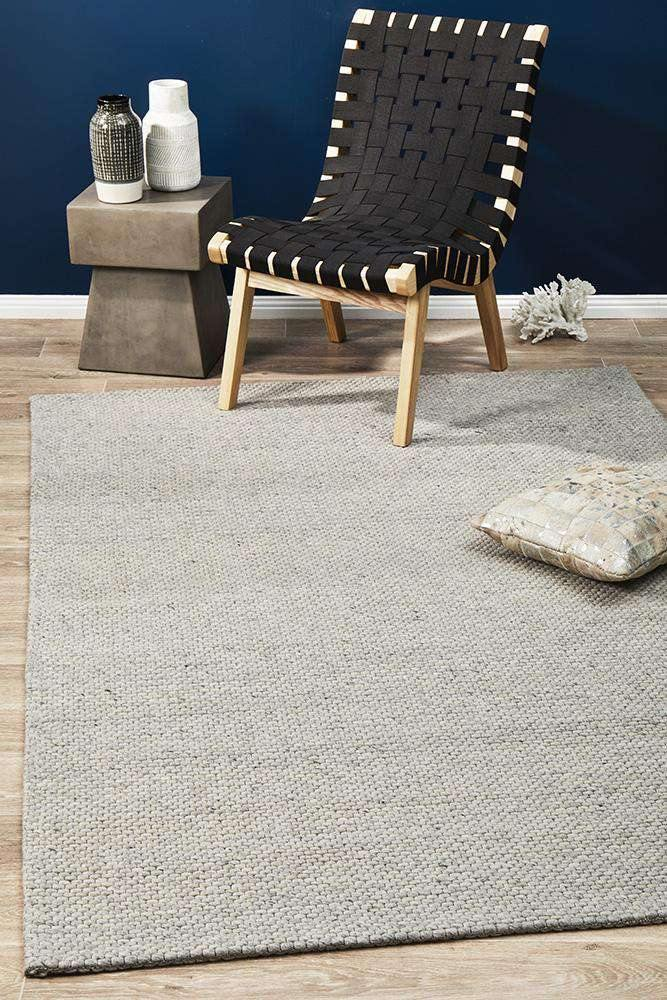 Arles Wool & Viscose Rug Grey | Wool Rugs | AfterPay Rugs | Free Delivery