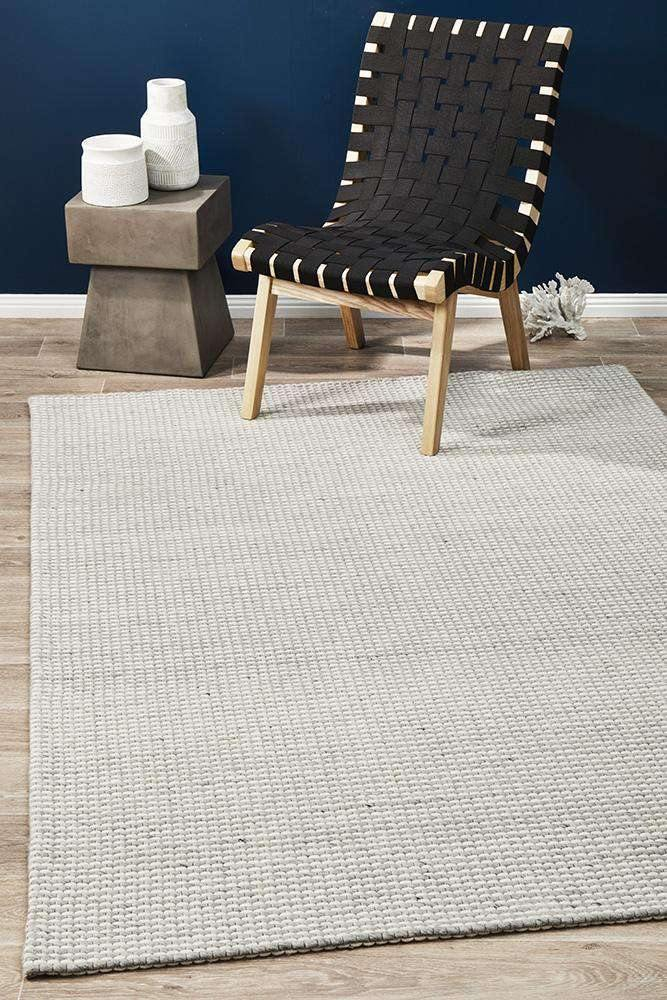Arles Wool & Viscose Rug Silver | Wool Rugs | Simple Style Co