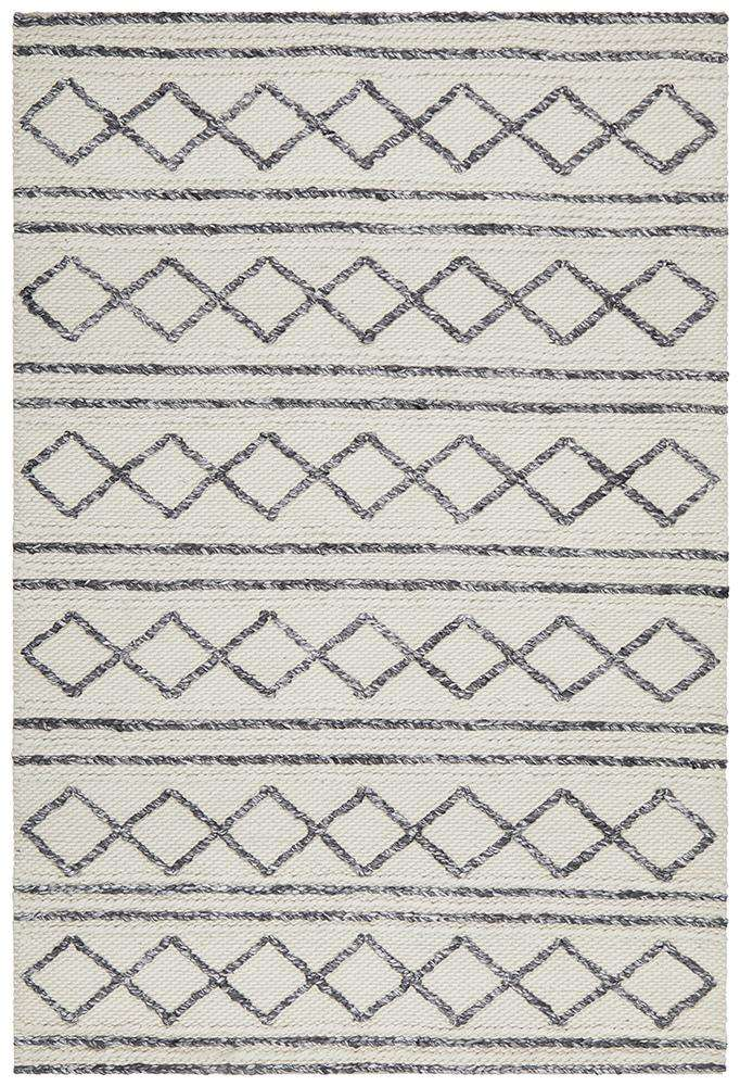 Milly Textured Tribal Wool Rug | Modern Rugs | Tribal Rugs | AfterPay