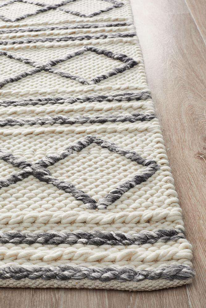 Milly Textured Tribal Wool Rug - Simple Style Co