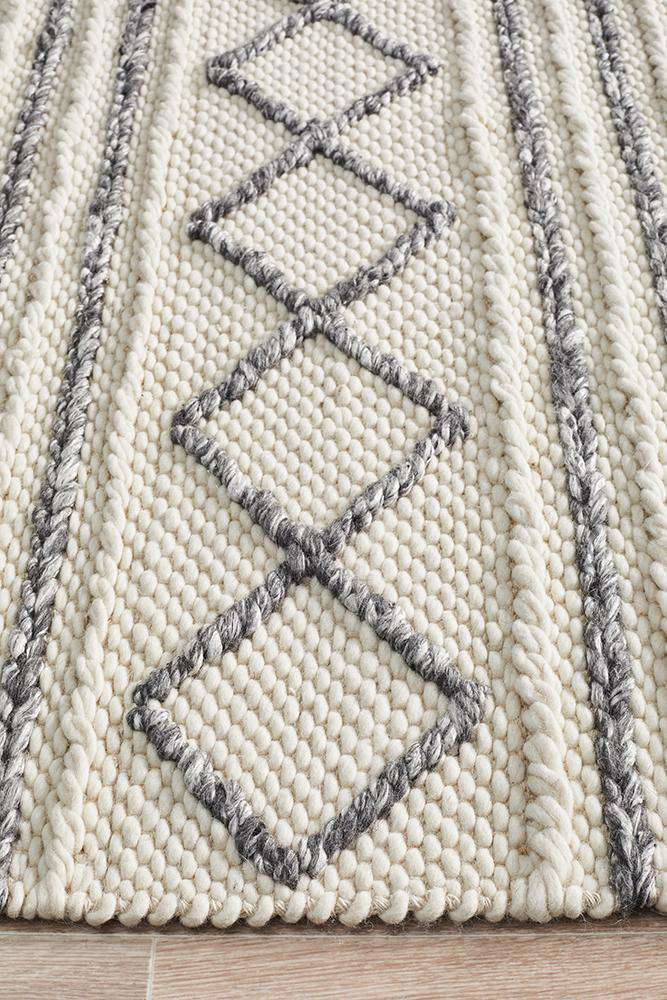 Milly Textured Tribal Wool Rug | Modern Rugs | Tribal Rugs