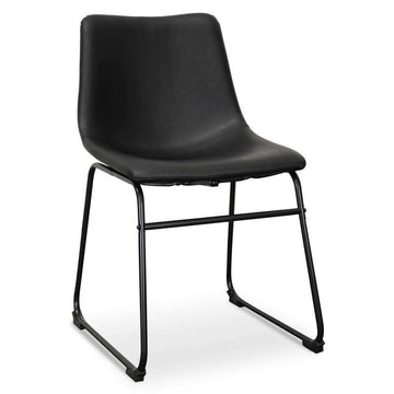 Saddle Faux Leather Dining Chair Black Set Of 2 | Simple Style Co