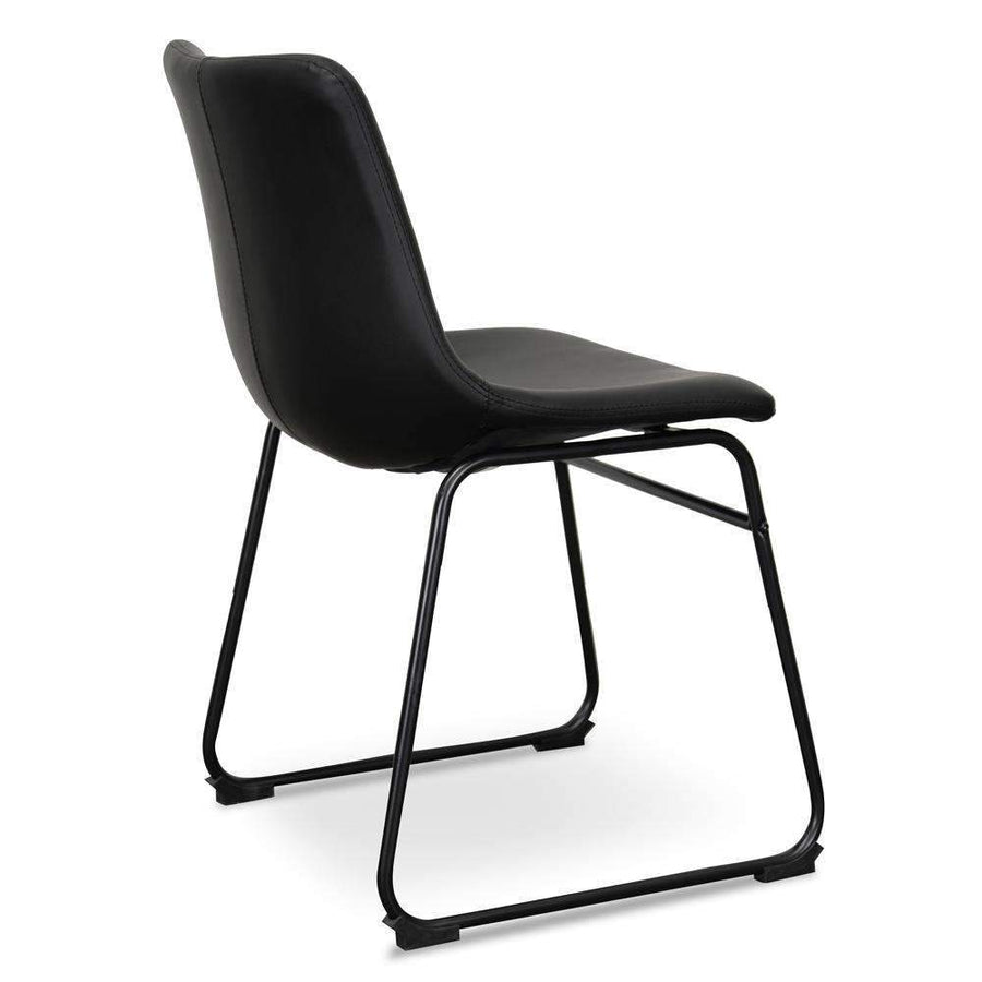 Saddle Dining Chair - Black (Set of 2) - Simple Style Co